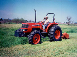 Nunes preparing the field for vineyard in 1999